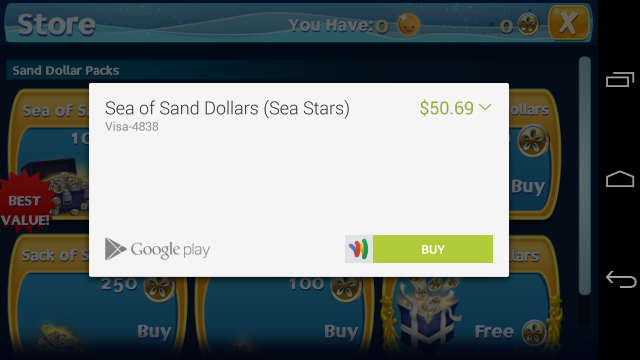 Sea Stars in app purchases