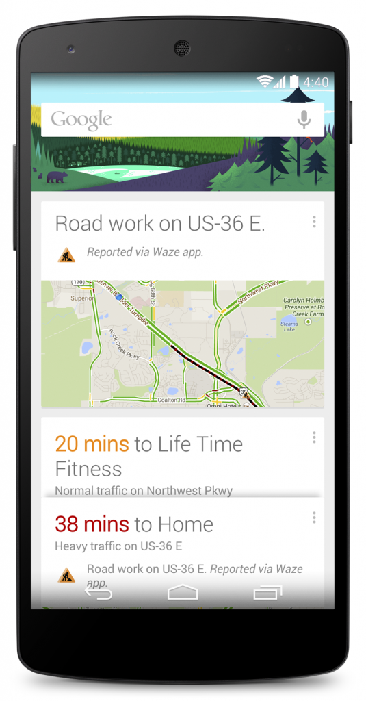 google now adds real