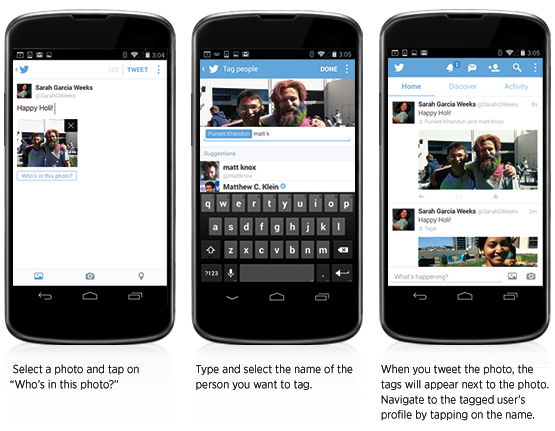 Twitter Photo tagging update
