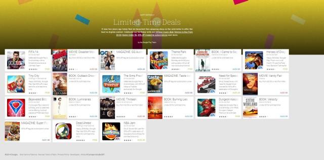 google play 2 year birthday sale