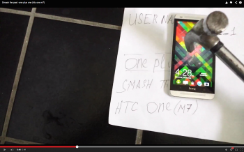 HTC One Smash the Past OnePlus contest