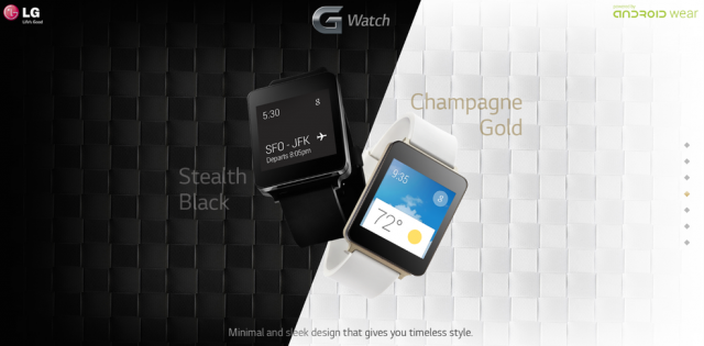 LG G Watch Black and Gold