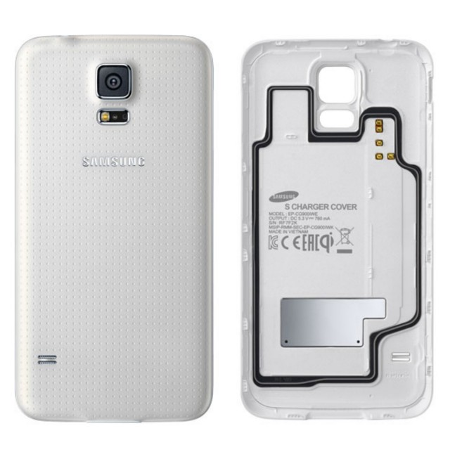 Samsung Galaxy S5 wireless charging back cover