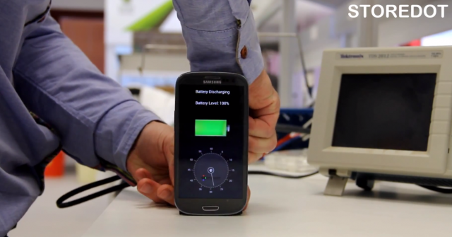 StoreDot proof of concept 30 second charger prototype