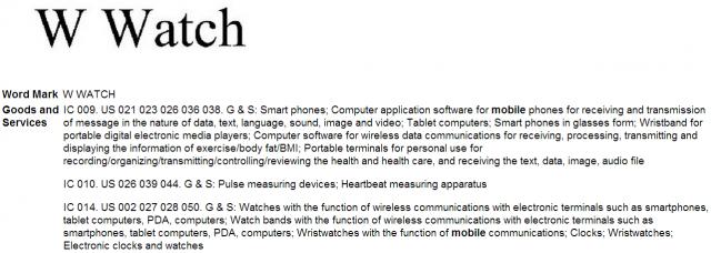 lg w watch trademark