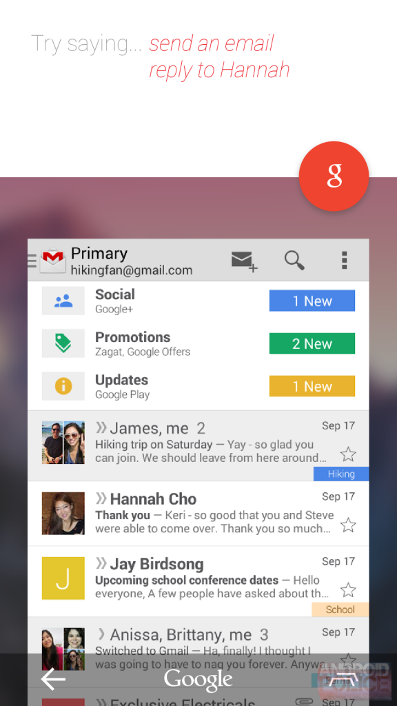 Google-Experience-Android-Gmail