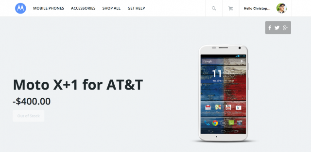 Motorola Moto X+1 page