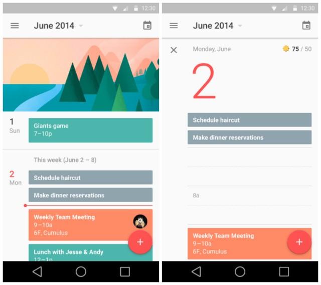Android L Material Calendar