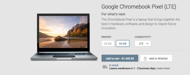 Chromebook Pixel Google Play listing