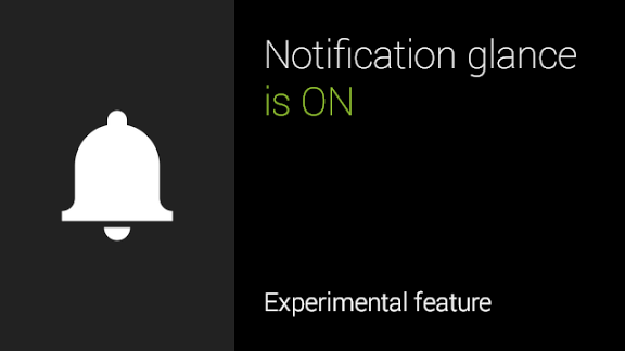 Google Glass Notification Glance update