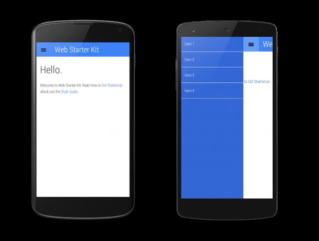 Google Web Starter Kit Quantum Paper design