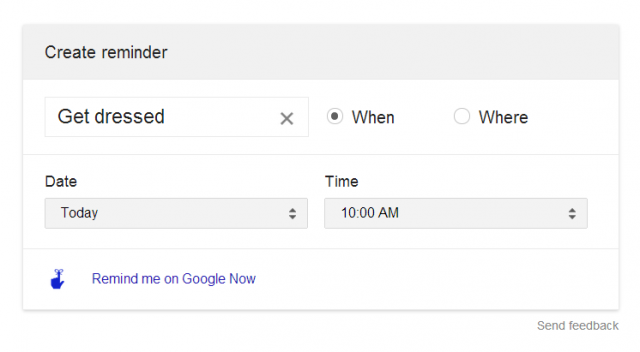 google now reminders from google