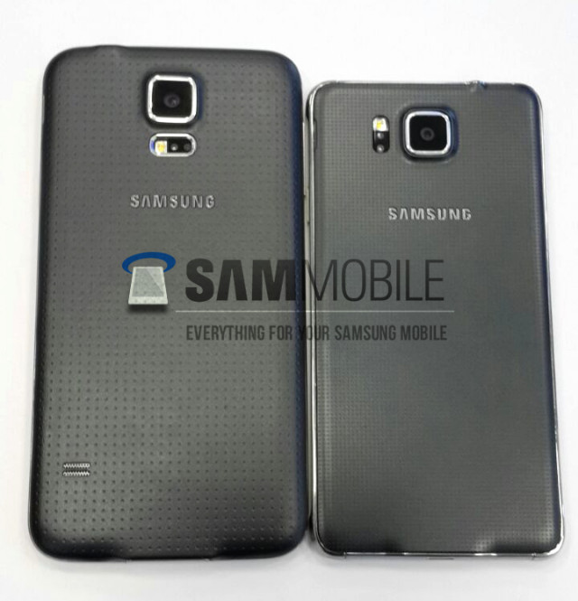 samsung galaxy alpha s5 comparison back