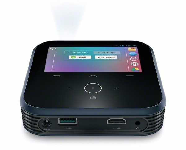 ZTE Projector on stand back