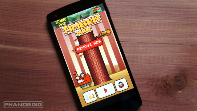 Timberman' is the next super addictive 8-bit Android game