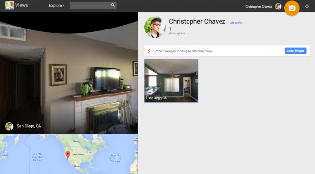 Maps Views Profile screenshot