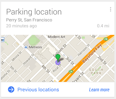 parked car google