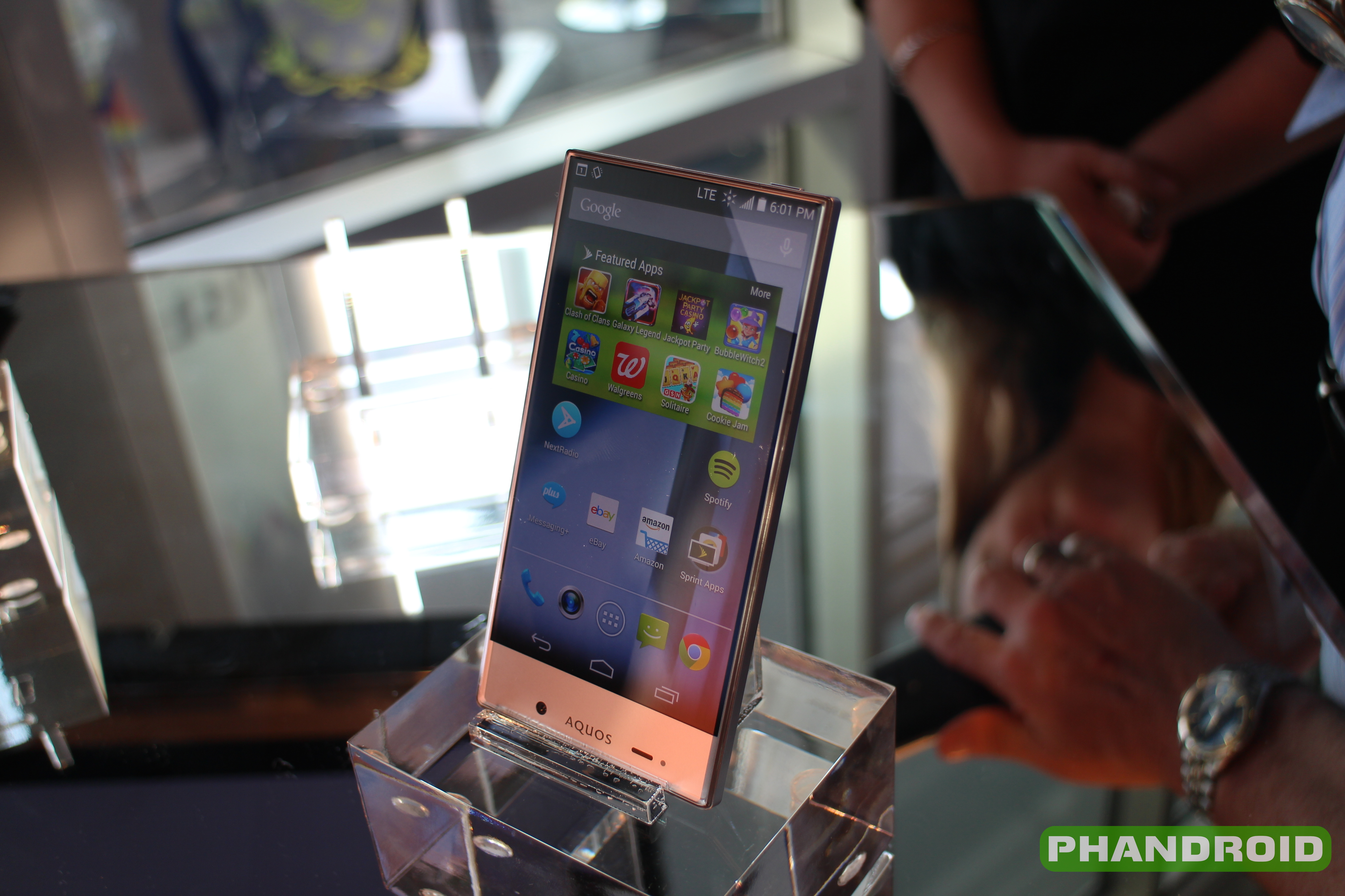 Hands-on: Sharp Aquos Crystal for Sprint [VIDEO]