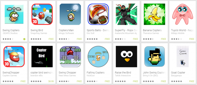 swing copters clones new