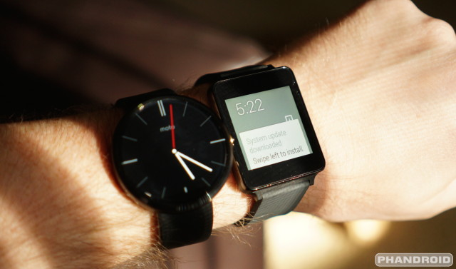 Android Wear update Moto 360 LG G Watch DSC06834