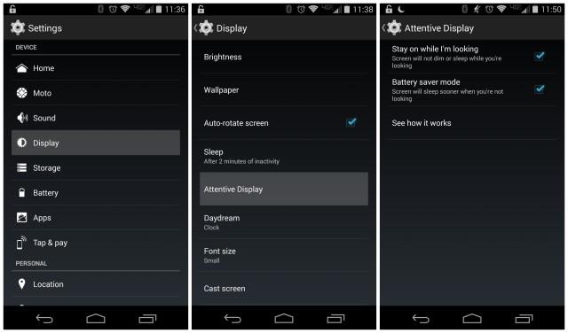 Moto X 2014 Attentive Display