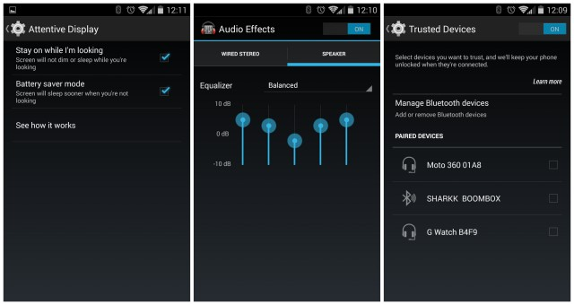 Moto X 2014 Attentive Display Audio Effects Trusted Devices