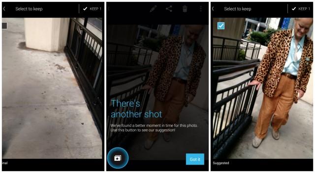 Moto X Camera suggested shot