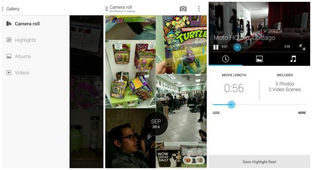 Motorola Moto X 2014 Gallery app