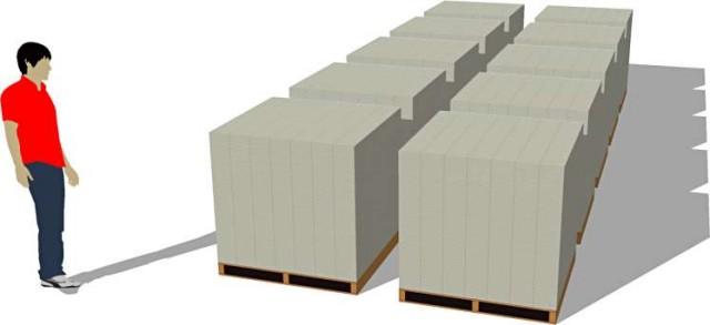 1 billion visualized on wood pallets