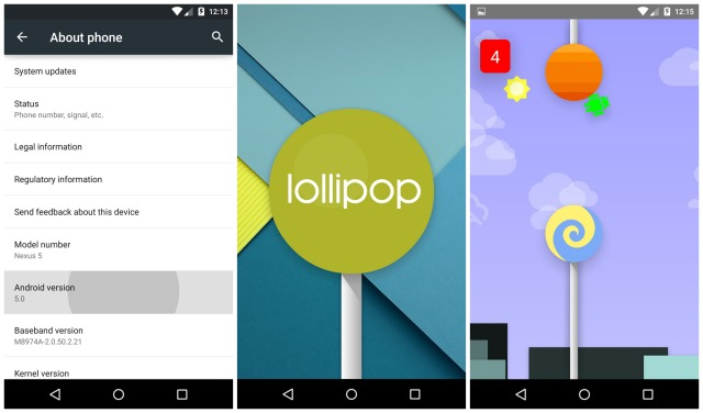 Android 5.0 Lollipop hidden game Easter Egg