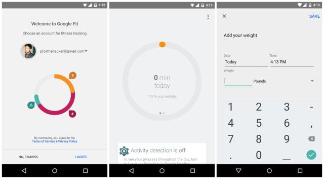 Google Fit leak Android 5.0 Lollipop