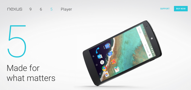 Nexus 5 family page