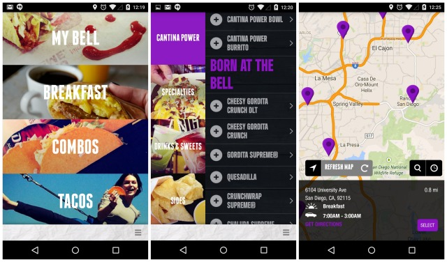 Taco Bell app for Android