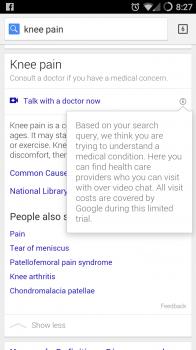 google health search result