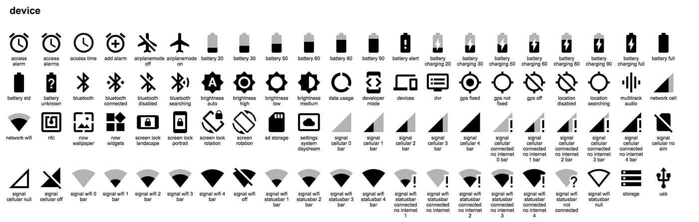 Download: 750 Material Design icons provided by Google