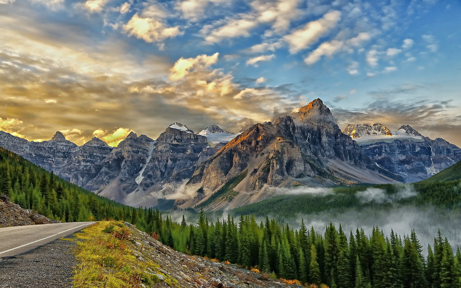 Android Wallpaper Majestic Mountains