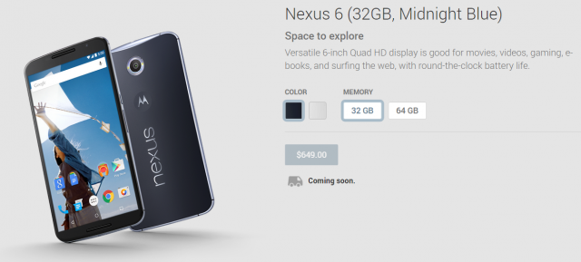 nexus 6 google play