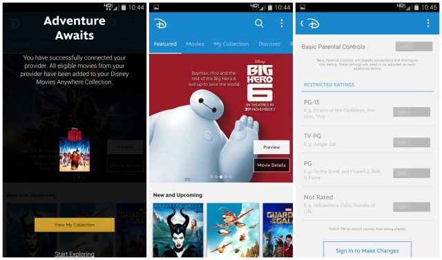 Disney Movies Anywhere Android