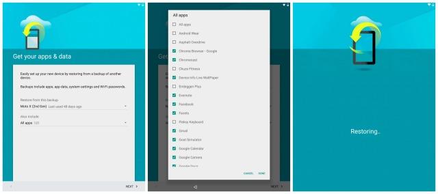 Nexus 9 Get your apps and data
