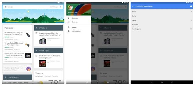 Nexus 9 Google Now
