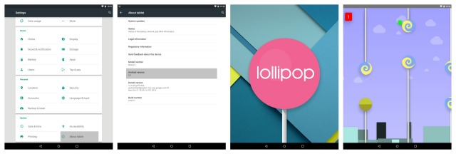 Nexus 9 Lollipop mini game Easter Egg