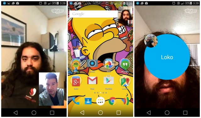 Skype update picture-in-picture video calls