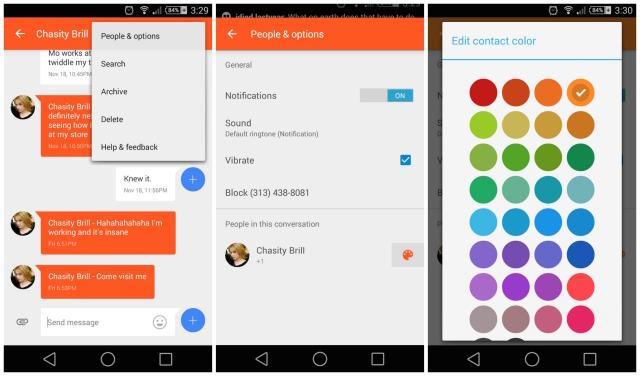 Google Messenger color update