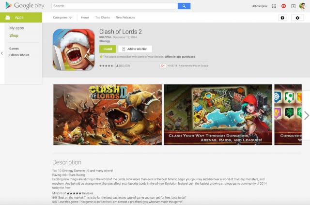 Google Play testimonials