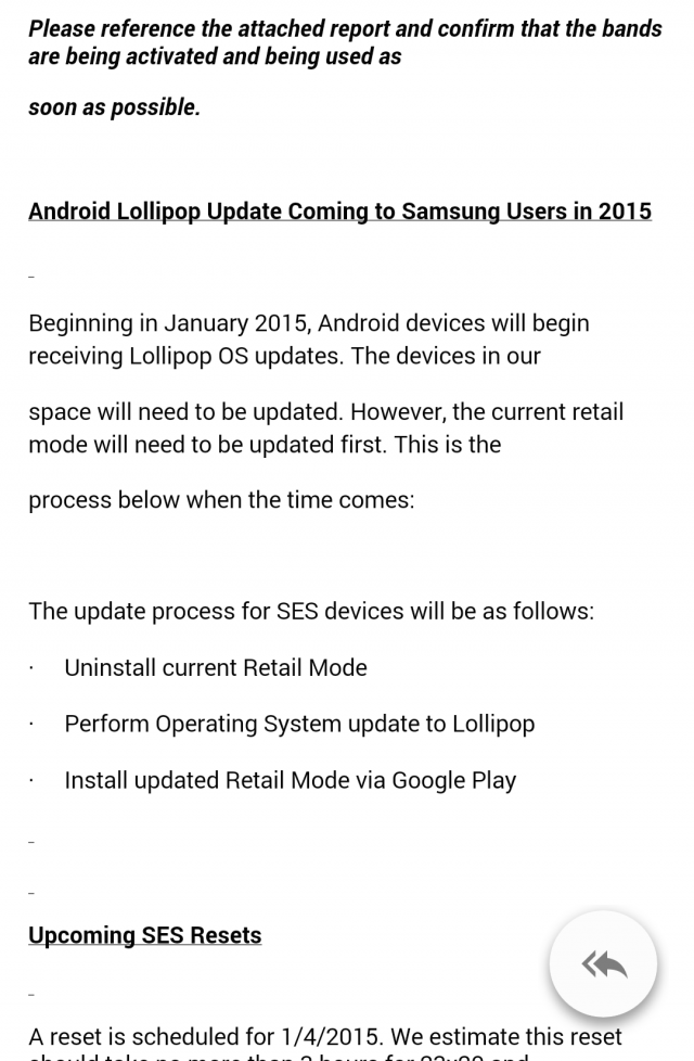 Samsung Email Retail Lollipop