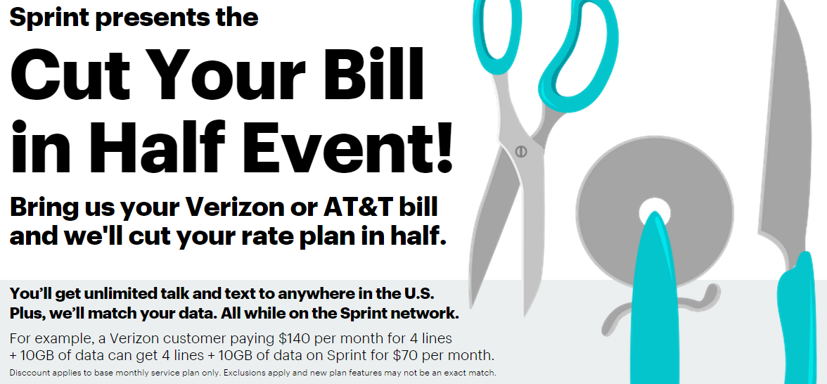 Sprint will cut your bill in half for switching from Verizon