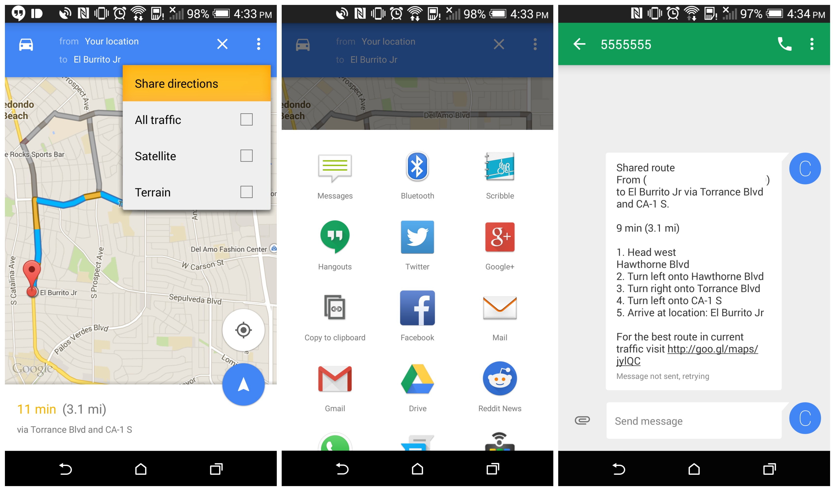 DOWNLOAD: Google Maps 9.3 with sharable directions on