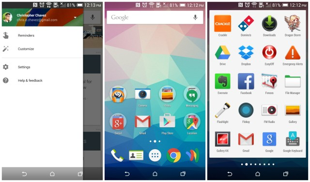 Google Now Launcher Material update