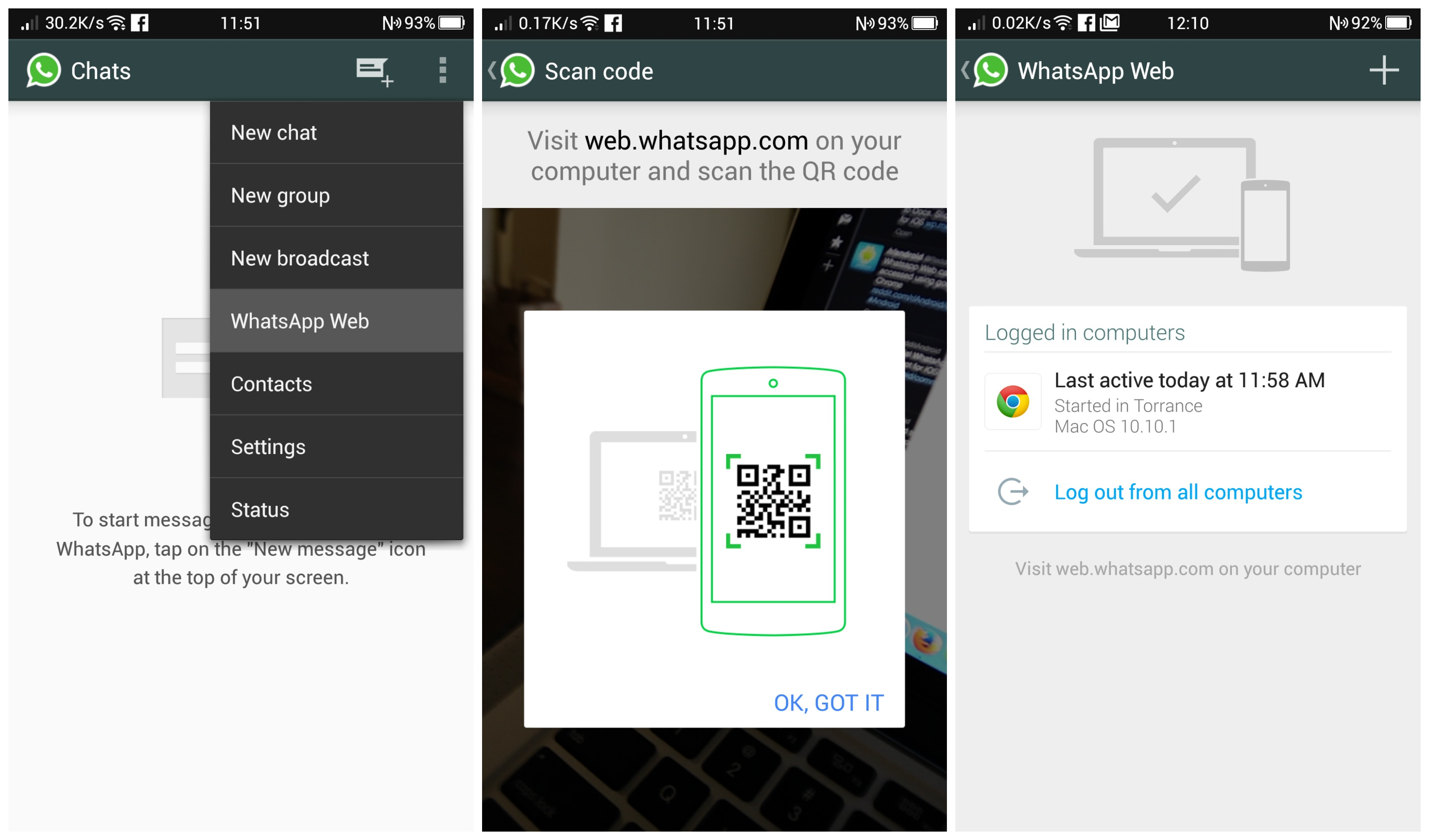 WhatsApp is now accessible from the web for Android users