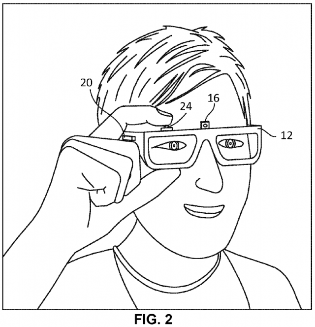 google glass prototype patent image 1